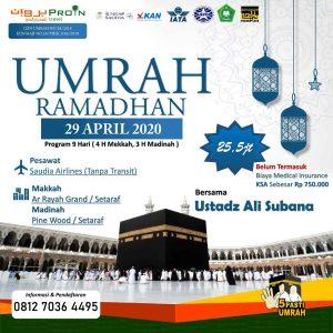 umroh awal ramadhan 2020 - Proin Travel Jakarta