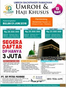 Umroh Itikaf Ramdhan 2018 AIF Tours