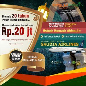 Umroh Promo Mei 2018 Proin Travel
