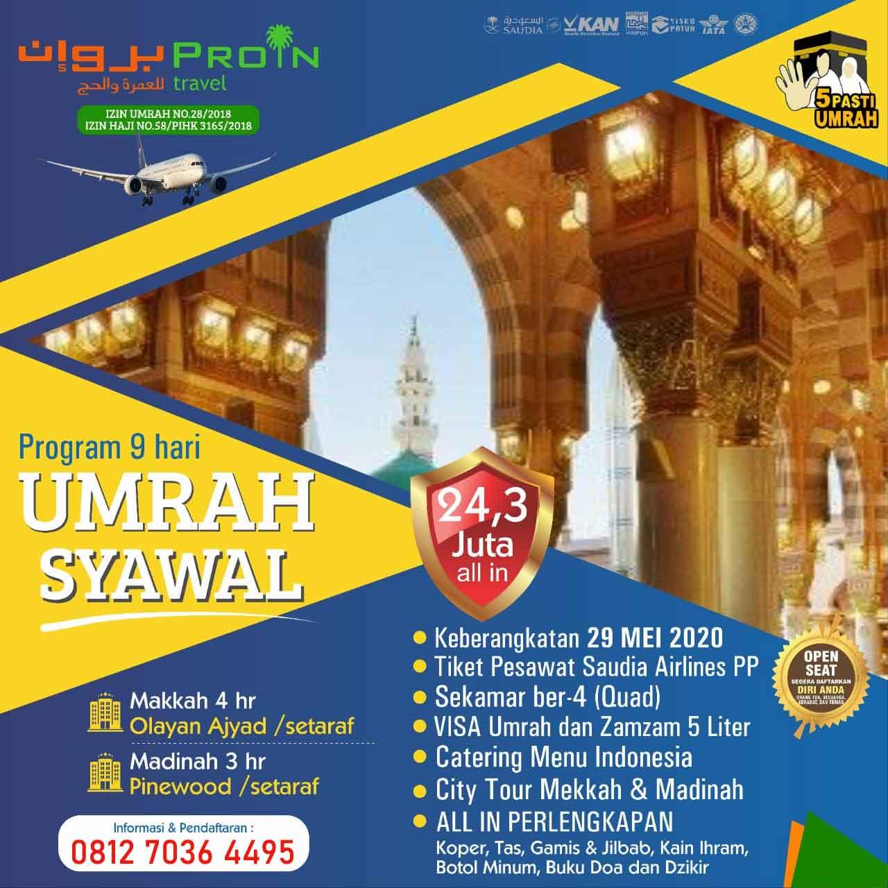 Umroh Syawal 2020 PROIN Travel