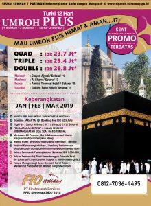 Umroh Awal Plus Turki 2019 Fio Holiday
