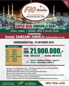Umrah 10 Oktober 2018 Fio Holiday