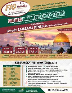 Umroh plus Aqsa Okt 2018 Fio Holiday
