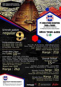 Umroh Akhir 2018 dan Ramadhan2019 Nida Utama Sejahtera