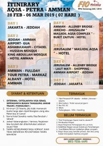 itinerary umroh feb 2019 ust abu ihsan - fio holiday