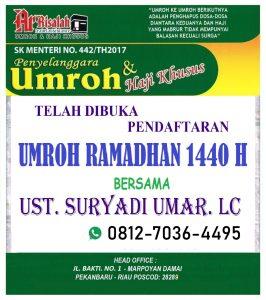 Umroh Ramadhan 2019 - ArRisalah Travel Pekanbaru