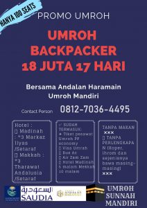 Umroh Backpacker 2019