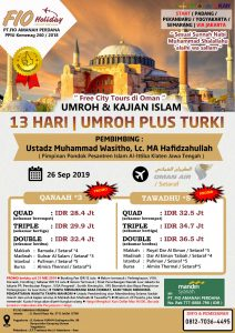 umroh plus turki september 2019 - fio holiday