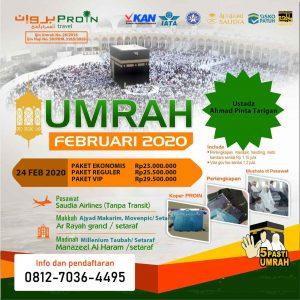 paket umroh februari-2020 - Proin Travel Medan