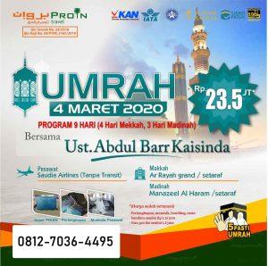 paket umroh maret 2020 - Proin Travel Jakarta