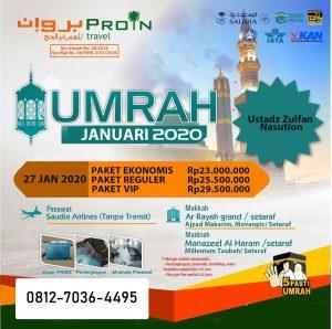 Umroh Januari 2020 - Travel Proin Medan