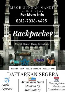 umroh backpacker 2020