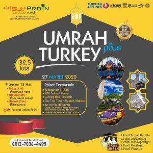 umroh plus turki 2020 - Proin Travel