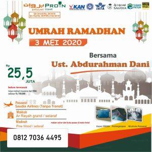umroh tengah Ramadhan 2020 - Proin Travel Jakarta