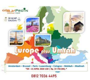 umroh plus Eropa - Proin Travel